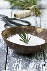sea salt with  rosemary
