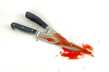Blutverschmierte Messer