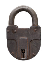 Padlock. Isolated