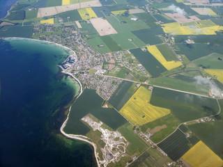 Danimarca,Yutland,campagna e mare.