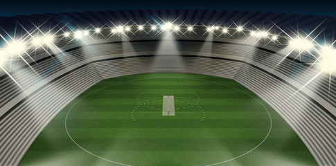 Cricket Stadium Night