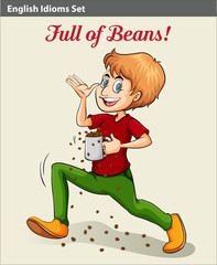 A man full of beans