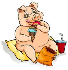 Eating like a pig idiom