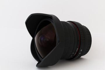 Camera lens fish-eye close-up