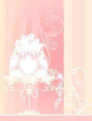 wedding background with cake