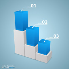 Data 3d growth chart