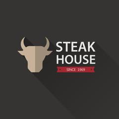 Steak House Poster. Vector illustration.