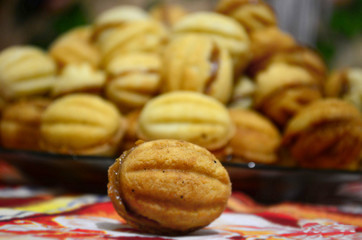 Baked Sweet Nuts; nuts stuffed with caramalized condensed milk