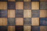 wooden gird pattern as background poster
