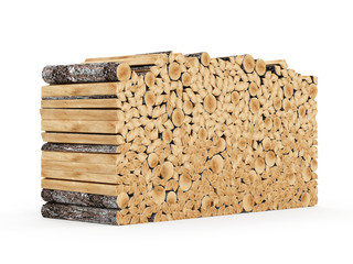 Firewood Logs isolated on white background