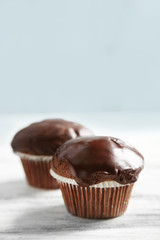 Tasty homemade chocolate muffins