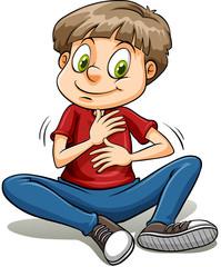 A boy with a golden heart idiom