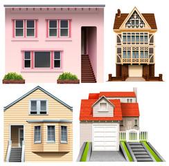Four house designs