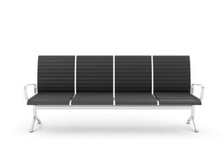 Public Seats isolated on white background