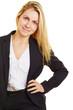 Junge Geschäftsfrau in Ausbildung