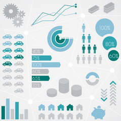 Finance Statistical Info Graphic Set