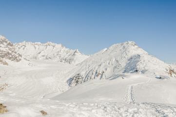 Bettmeralp, Dorf, Alpen, Schneeschuhwanderung, Schweiz