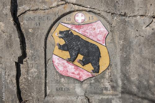 Leinwanddruck Bild Erinnerung an die Grenzbesetzung (1. Weltkrieg), Schweiz