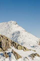 Bettmeralp, Dorf, Alpen, Bettmerhorn, Höhenweg, Winter, Schweiz