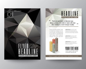 Abstract Triangle Polygon Brochure Flyer design Layout template