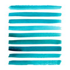 Set of watercolor stripes.