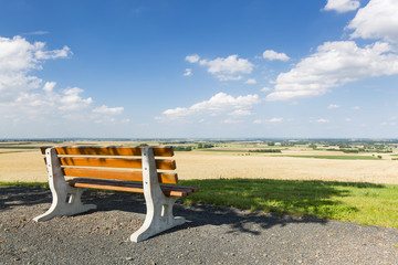 Bench And Summer Landscape, Germany