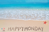 happy monday on a tropical beach