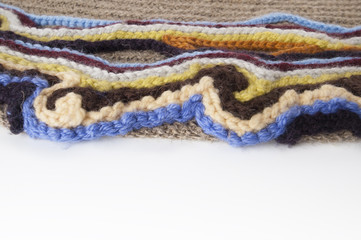 Fragment of knitted fabric..