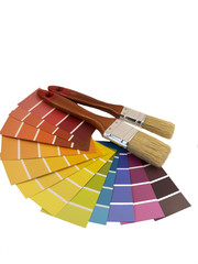 paintbrush and swatches