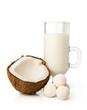 Leinwandbild Motiv Coconut milk and candy