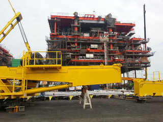 Oil&gas platform under construction.