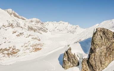 Riederalp, Dorf, Moosfluh, Aletsch, Alpen, Wallis, Schweiz