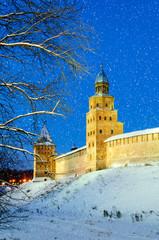 Tower Kokui and Intercession tower of  Novgorod Kremlin