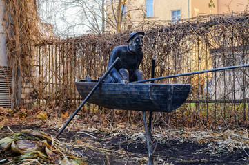 Sculptural composition Frightened Fisherman