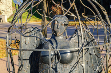 The city sculpture Bird Sirin