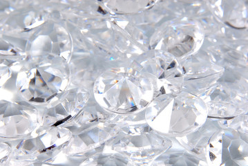 close up of the diamonds background