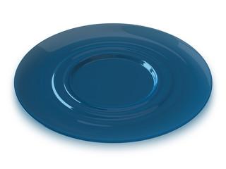 Blue glass saucer
