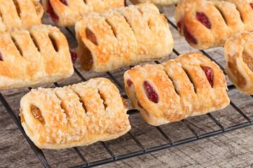 Fresh baked miniature fruit pastries