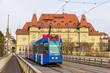 Old tram on Kirchenfeldbrucke in Bern, Switzerland