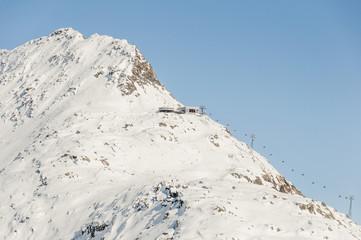 Bettmeralp, Dorf, Bettmerhorn, Winter, Alpen, Wallis, Schweiz