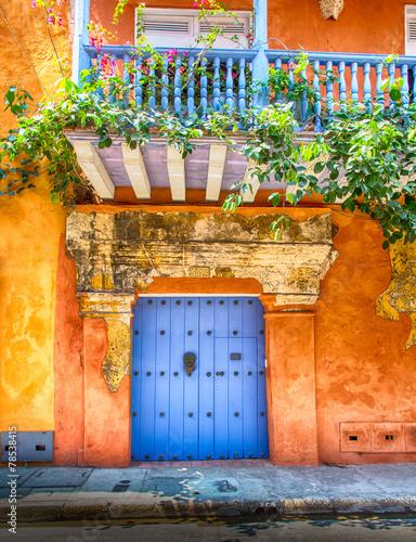 Leinwanddruck Bild Doors of Cartagena
