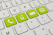 contact us - keyboard - green - 78539012
