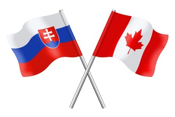 Flags: Slovakia and Canada
