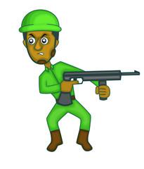 Soldier ambush