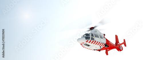 Leinwandbild Motiv Helicopter