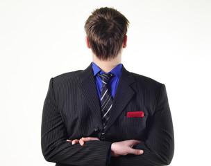 businessman in suit neck