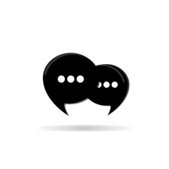Chat icon - vector illustration