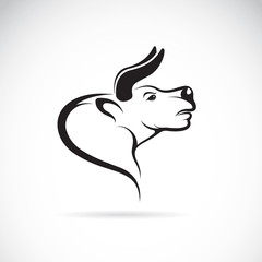 Vector image of an bull head on a white background