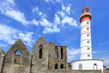Leuchtturm Saint Mathieu, Bretagne, Frankreich