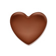 Chocolate heart. Sweet background.